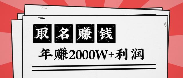 王通:不要小瞧任何一个小领域,取名技能也能快速赚钱,年赚2000W+利润插图