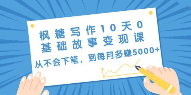 枫糖写作10天0基础故事变现课:从不会下笔,到每月多赚5000+(10节视频课)插图