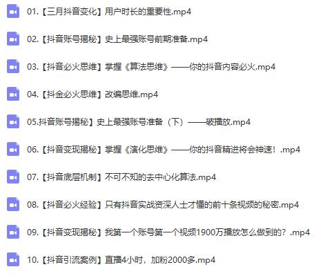 抖金必火学院52节抖音变现魔法课,0成本启动自己的抖音矩阵,实现月入10W+插图(1)